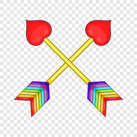 Two arrows LGBT icon, cartoon style Stock Illustratie