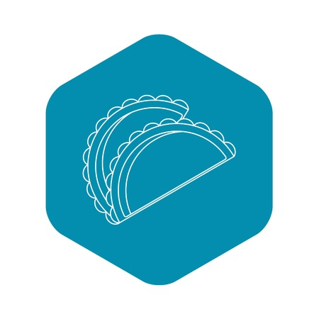 Savory patty icon. Outline illustration of savory patty vector icon for web