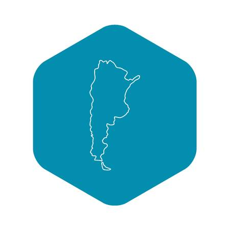 Argentina map icon. Outline illustration of Argentina map vector icon for web 向量圖像
