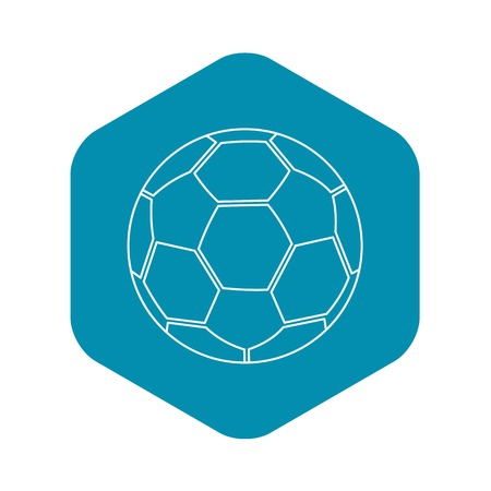 Ball icon. Outline illustration of ball vector icon for web