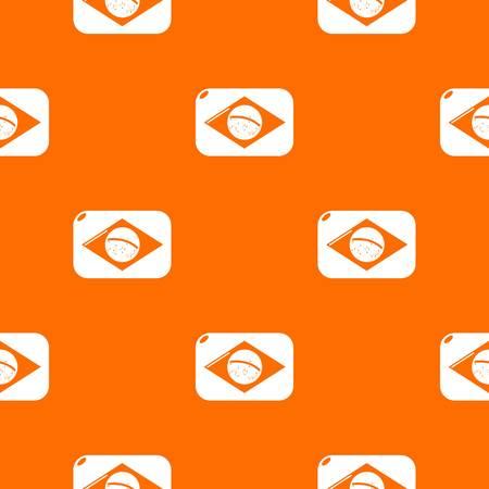 Brazilian flag pattern vector orange for any web design best Çizim