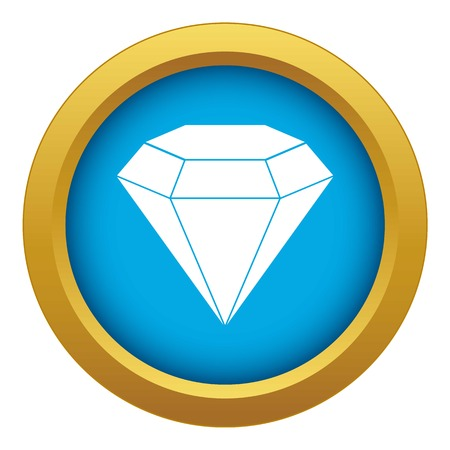 Brilliant gemstone icon blue vector isolated on white background for any design