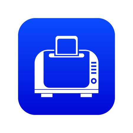 Toaster icon digital blue for any design isolated on white vector illustration
