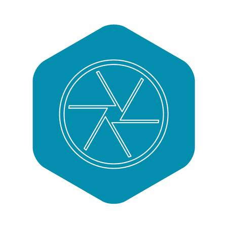 Round objective icon, outline style
