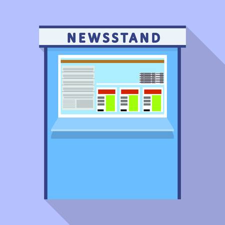 Newsstand kiosk icon. Flat illustration of newsstand kiosk vector icon for web design