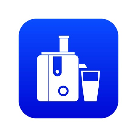 Juicer icon digital blue for any design isolated on white vector illustration