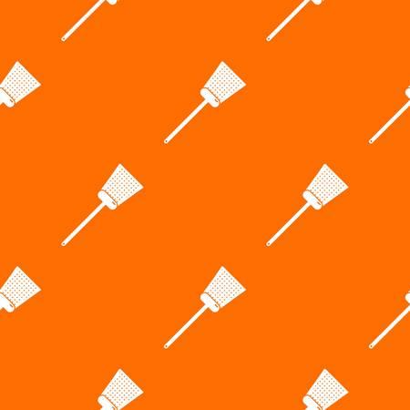 Swatter pattern vector orange