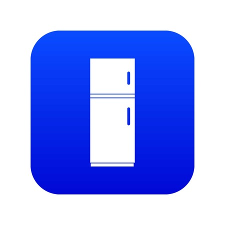Refrigerator icon digital blue for any design isolated on white vector illustration