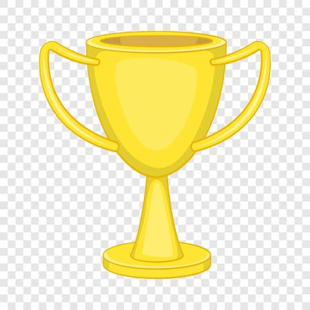 Winner trophy cup icon in cartoon style isolated on background for any web design  イラスト・ベクター素材