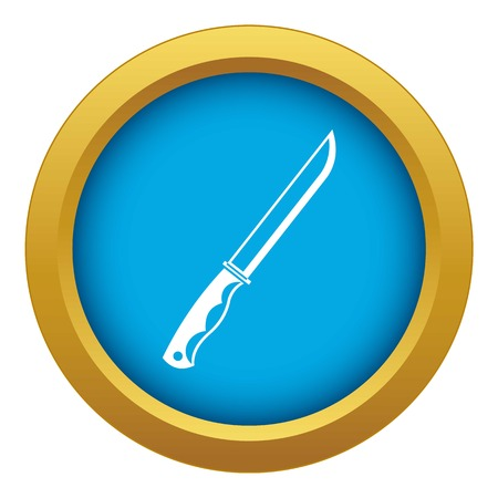 Knife icon blue vector isolated Illustration