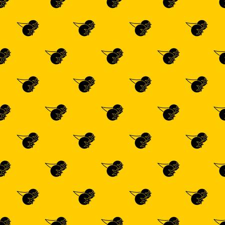 Chokeberry or aronia berry pattern seamless vector repeat geometric yellow for any design Ilustração
