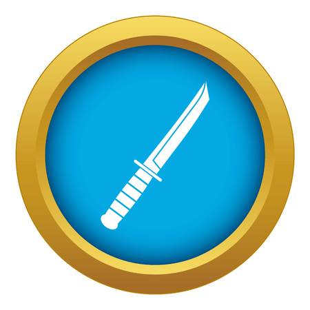 Little knife icon blue vector isolated Ilustracja