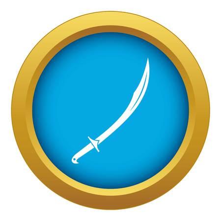 Cutlass icon blue vector isolated Illustration