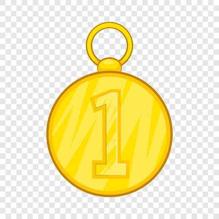 First position cold medal icon in cartoon style isolated on background for any web design