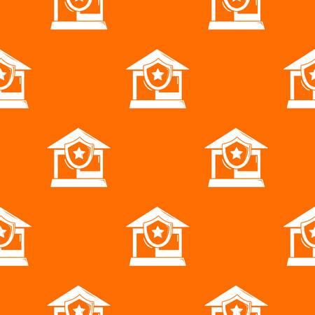 House protection pattern vector orange for any web design best
