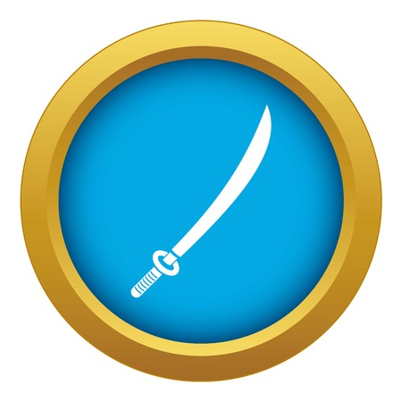 Katana icon blue vector isolated Stock Vector - 121799638