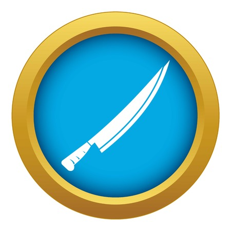 Long knife icon blue vector isolated