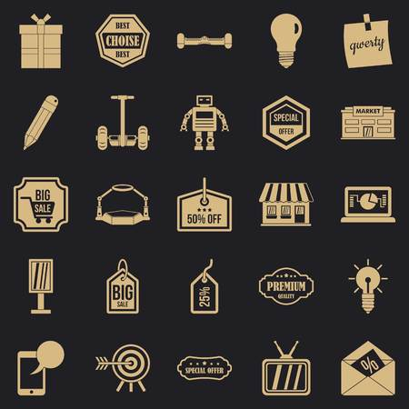 Sale of advertising icons set. Simple set of 25 sale of advertising vector icons for web for any design