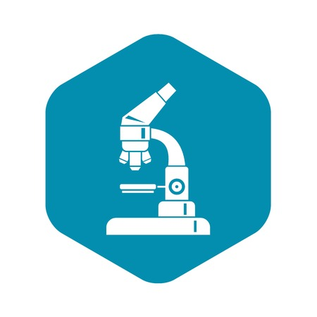 Microscope icon in simple style isolated on white background. Scientific research symbol
