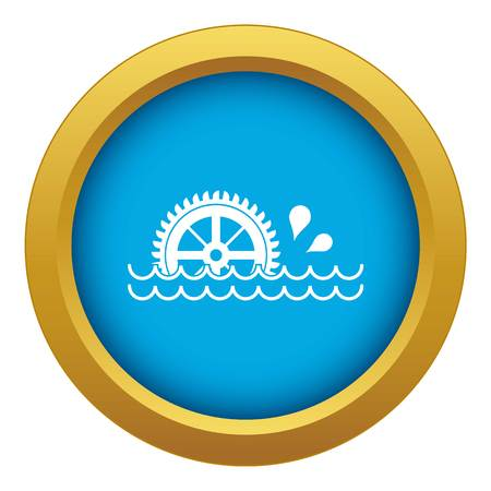 Waterwheel icon blue vector isolated on white background for any design Illustration