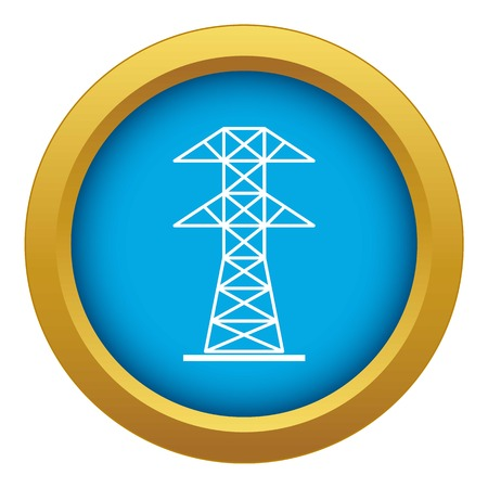 High voltage tower icon blue vector isolated on white background for any design