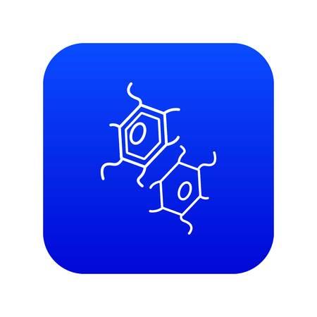 Bird flu virus icon blue vector isolated on white background
