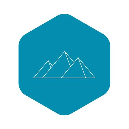 Pyramids of Egypt icon, simple style