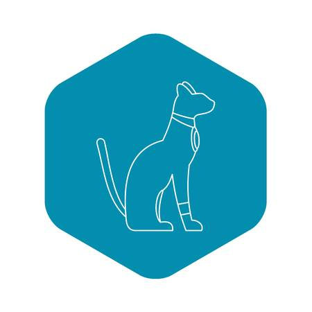 Egypt cat icon. Outline illustration of Egypt cat vector icon for web