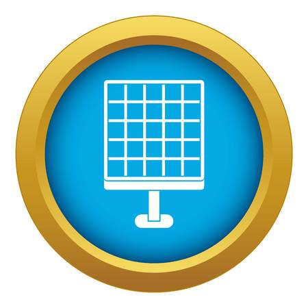 Solar panel icon blue vector isolated on white background for any design