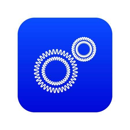 Mildew virus icon blue vector
