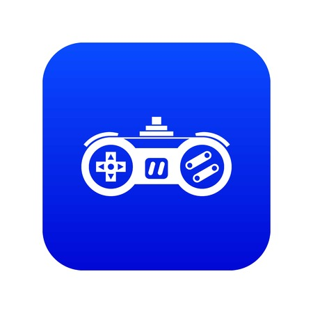 Gamepad icon digital blue for any design isolated on white vector illustration