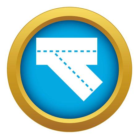 Turn road icon blue vector isolated