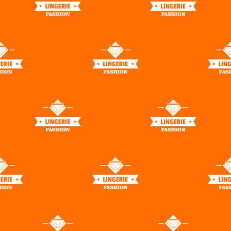 Lingerie beauty pattern vector orange Stock Illustratie