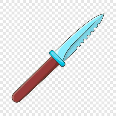 Steel knife icon in cartoon style on a background for any web design