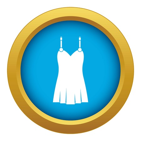 Nightdress icon blue vector isolated