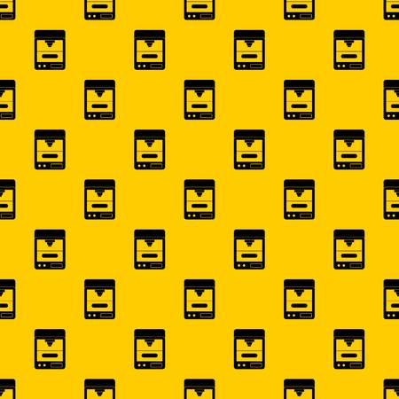 3D printer pattern seamless vector repeat geometric yellow for any design