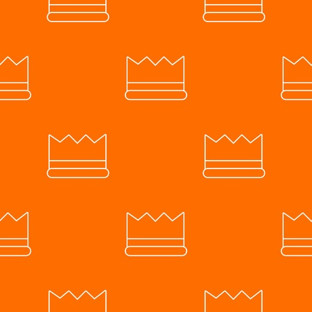 Silver crown pattern vector orange for any web design best