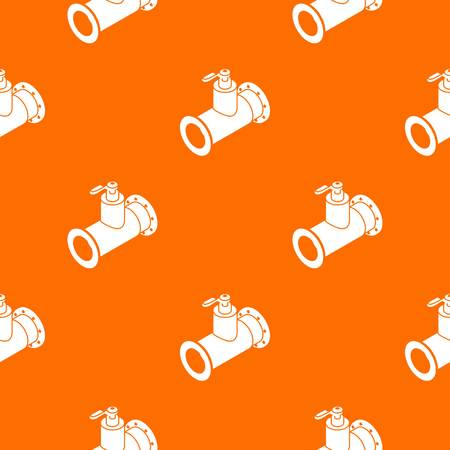 Pipe water pattern vector orange for any web design best Illustration