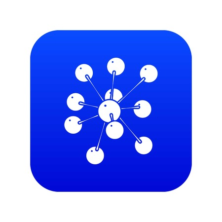 Cresols molecule icon blue vector isolated on white background  イラスト・ベクター素材