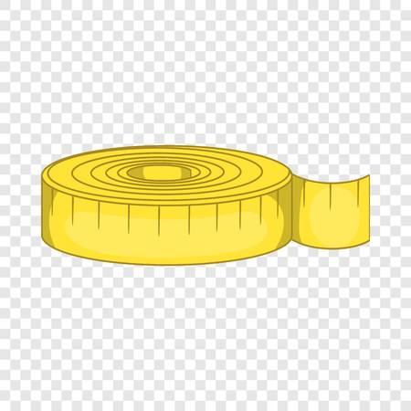 Measuring tape i icon in cartoon style isolated on background for any web design