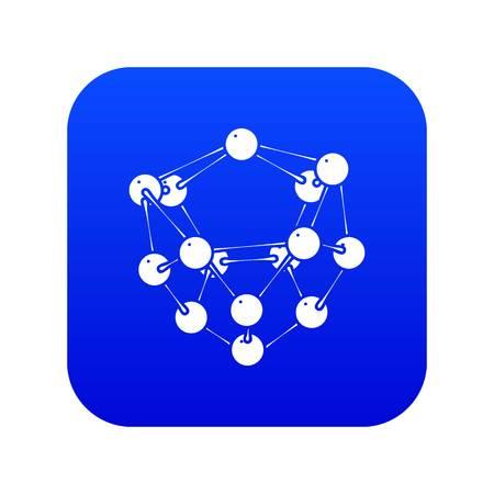Glucose icon blue vector isolated on white background Vektorové ilustrace