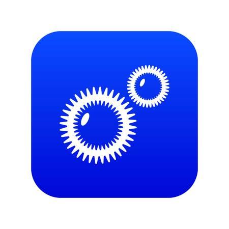 Mildew virus icon blue vector isolated on white background