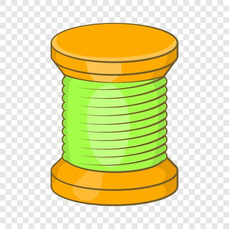 Wooden coil icon in cartoon style isolated on background for any web design