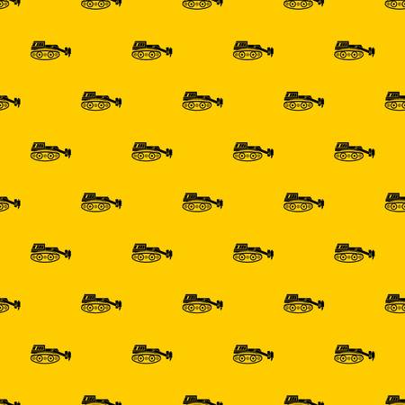 Excavator with hydraulic hammer pattern seamless vector repeat geometric yellow for any design Illustration