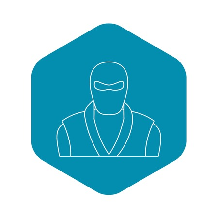 Ninja man icon, outline style