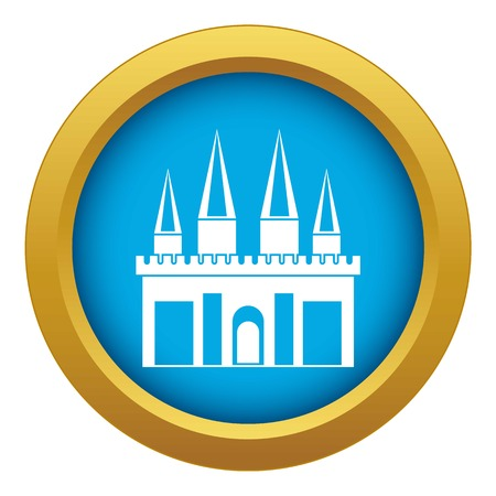 Kingdom palace icon blue vector isolated