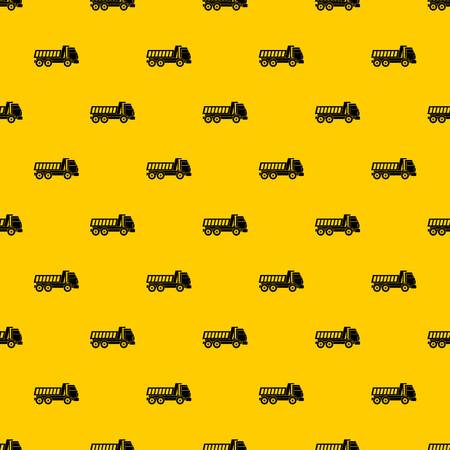 Dumper truck pattern seamless vector repeat geometric yellow for any design