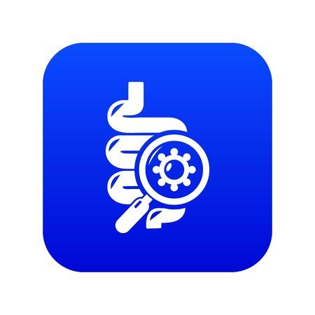 Intestine virus icon blue vector isolated on white background Illustration