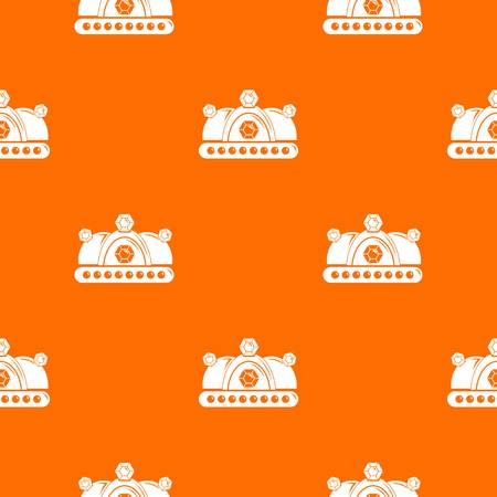 Crown pattern vector orange for any web design best
