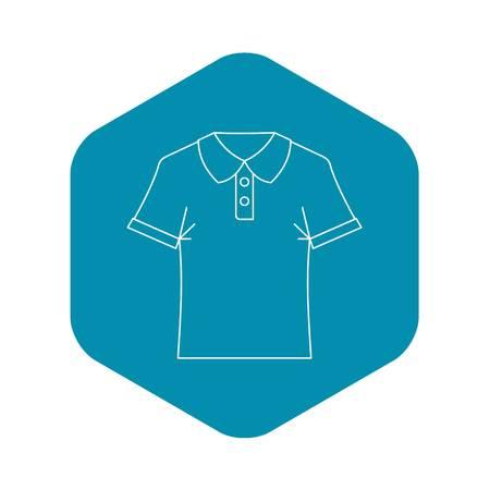 Polo shirt icon. Outline illustration of polo shirtv vector icon for web